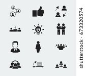 set of 12 editable job icons....