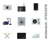 set of 9 editable tech icons....