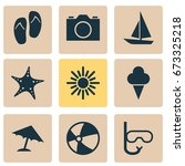 season icons set. collection of ... | Shutterstock .eps vector #673325218