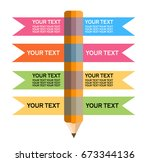pencil infographic | Shutterstock .eps vector #673344136