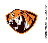 tiger animal wild mascot sport...   Shutterstock .eps vector #673356754