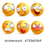 smileys vector set. smiley face ... | Shutterstock .eps vector #673360369