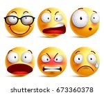 smiley face or emoticons vector ... | Shutterstock .eps vector #673360378