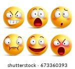 smileys vector set. smiley face ... | Shutterstock .eps vector #673360393