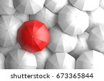 standing out from the crowd | Shutterstock . vector #673365844