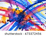 abstract watercolor texture.... | Shutterstock . vector #673372456