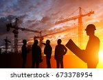 silhouette teams engineer... | Shutterstock . vector #673378954