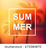 summer tropical background with ... | Shutterstock .eps vector #673384870