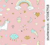 magic design seamless pattern... | Shutterstock .eps vector #673387918