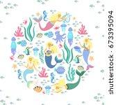 greeting banner on the marine...   Shutterstock .eps vector #673395094