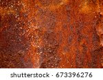 old rusty metal surface... | Shutterstock . vector #673396276