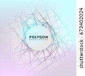 polygon abstract vector...   Shutterstock .eps vector #673402024