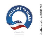 welcome to miami florida usa... | Shutterstock .eps vector #673404700