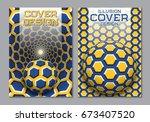 blue yellow color scheme book... | Shutterstock .eps vector #673407520
