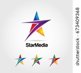 Abstract Colorful Star Logo...
