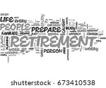 why prepare for retirement text ... | Shutterstock .eps vector #673410538