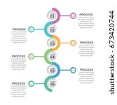 circle infographic six options | Shutterstock .eps vector #673420744