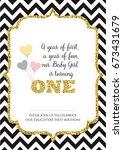 first birthday invitation for... | Shutterstock .eps vector #673431679