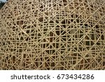 bamboo weave texture background  | Shutterstock . vector #673434286