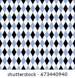 seamless argyle pattern.... | Shutterstock .eps vector #673440940