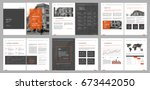 design annual report  cover ... | Shutterstock .eps vector #673442050