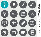 set of 16 constructive icons... | Shutterstock .eps vector #673443244
