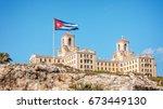havana  cuba  march 14  2016 ... | Shutterstock . vector #673449130
