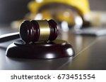 construction law. | Shutterstock . vector #673451554