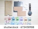 mock up flatlays indonesian...   Shutterstock . vector #673458988