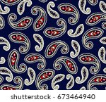 seamless  paisley pattern | Shutterstock .eps vector #673464940