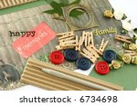 a selection of scrapbooking  ... | Shutterstock . vector #6734698