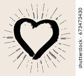 vector art illustration grunge... | Shutterstock .eps vector #673473430