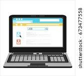 browsing for a job.flat design. | Shutterstock . vector #673477558