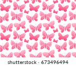 vector butterfly silhouette... | Shutterstock .eps vector #673496494