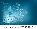medical research. future... | Shutterstock .eps vector #673505218