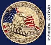 united in memory  september 11  ... | Shutterstock .eps vector #673519396