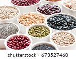 collection set of beans ... | Shutterstock . vector #673527460
