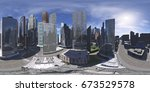 cityscape. environment map.... | Shutterstock . vector #673529578