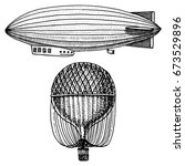 Airship Or Zeppelin And...