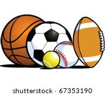 Sporting equipment - stock vector