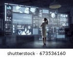 innovative technologies in use | Shutterstock . vector #673536160
