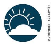 summer sun with cloud scene | Shutterstock .eps vector #673539454