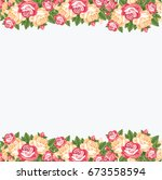 flower empty banner | Shutterstock . vector #673558594