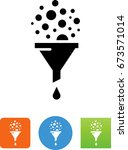 conversion funnel icon | Shutterstock .eps vector #673571014