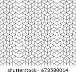 abstract geometric cube... | Shutterstock .eps vector #673580014
