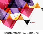 triangular low poly vector a4... | Shutterstock .eps vector #673585873