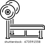 bench press outline icon | Shutterstock .eps vector #673591558