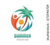 summer vacation   creative logo ... | Shutterstock .eps vector #673596709