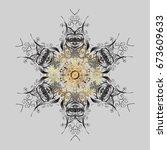 pattern  ornamental  christmas... | Shutterstock . vector #673609633