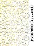 dark yellow banner with circles ... | Shutterstock . vector #673620559